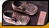 Бронзовані дитячі черевички